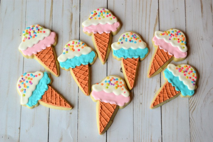 picture of ice cream cone cookies