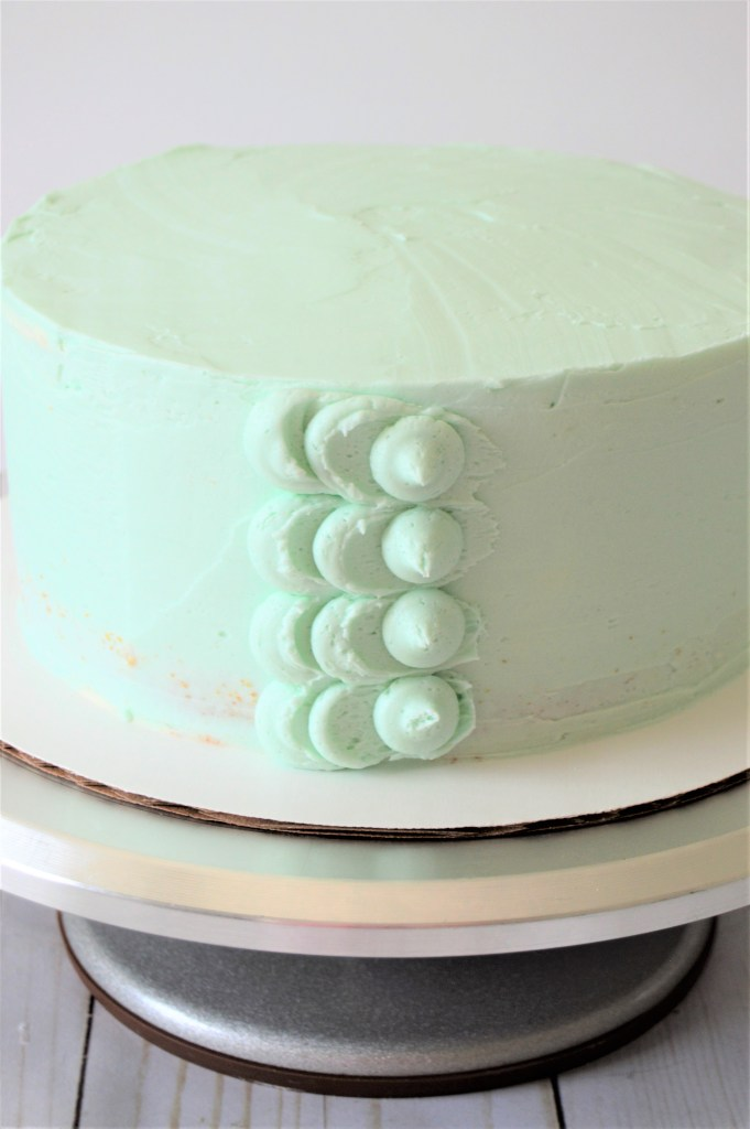 buttercream petal cake.