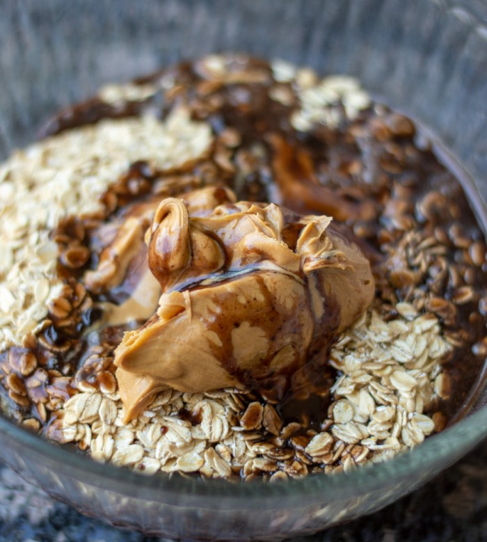 chocolate peanut butter and oats