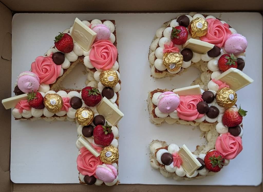 43 decorated number cake