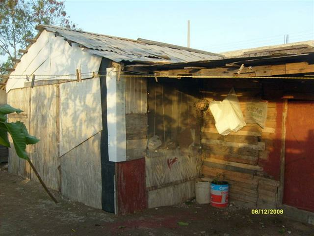 A typical house on the border in Mexico