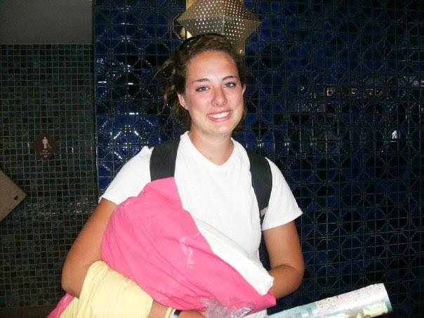 One of our summer interns Colleen leaving after a summer in Mexico