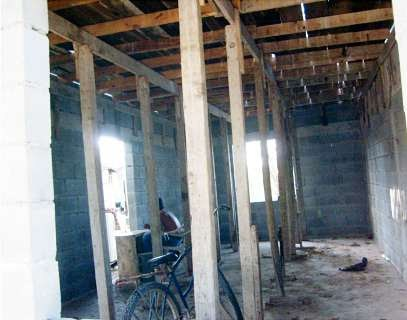 Inside a familys existing house in Reynosa Mexico
