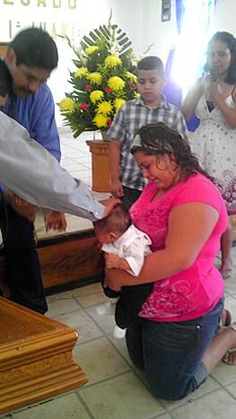 Baptism in Miguel Aleman