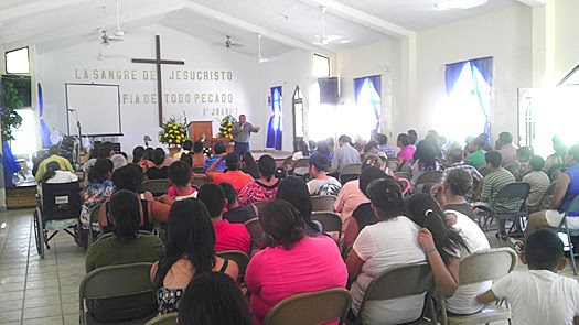 Celebrating the eighth anniversary of the church in Miguel Aleman