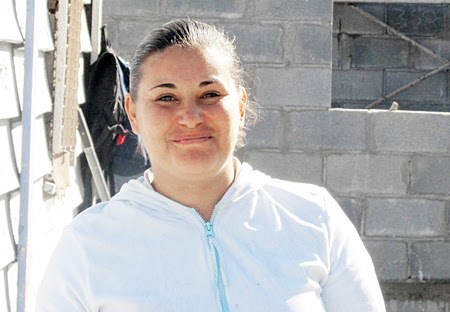 A happy homeowner in Reynosa