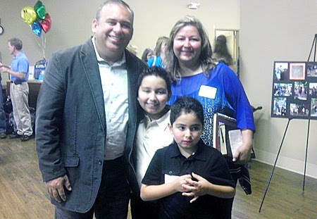 David Rodriguez and his family in Raleigh NC