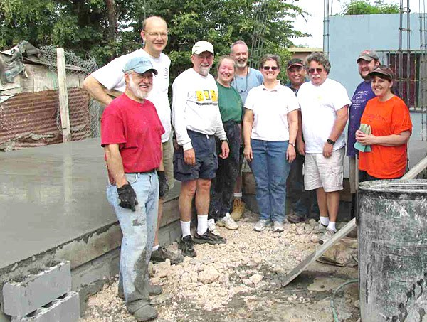 The Board of Directors after pouring a floor in Reynosa