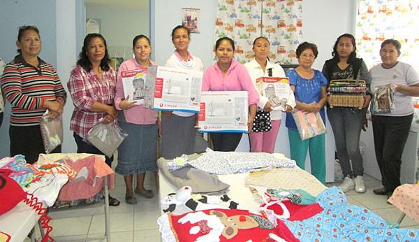 The women in the sewing program in Reynosa