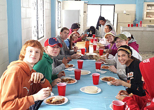 A team enjoying a delicious meal in Reynosa