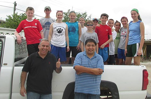Kids from a mission work group with David and Omar in Mexico