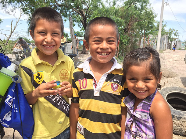 All smiles from the kids in Reynosa