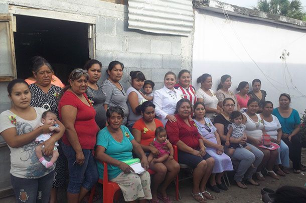 Mothers in a small town outside of Miguel Aleman on Mothers Day