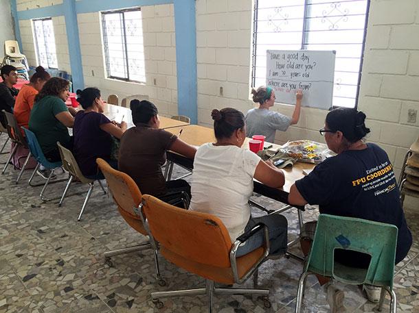Graciela teaching English in Reynosa