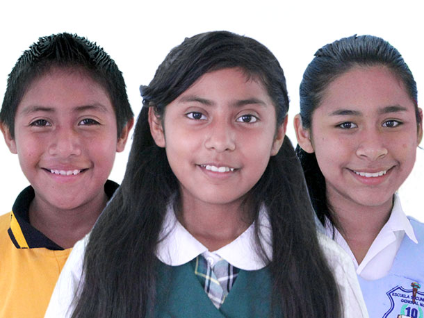 Students in our scholarship program in Mexico