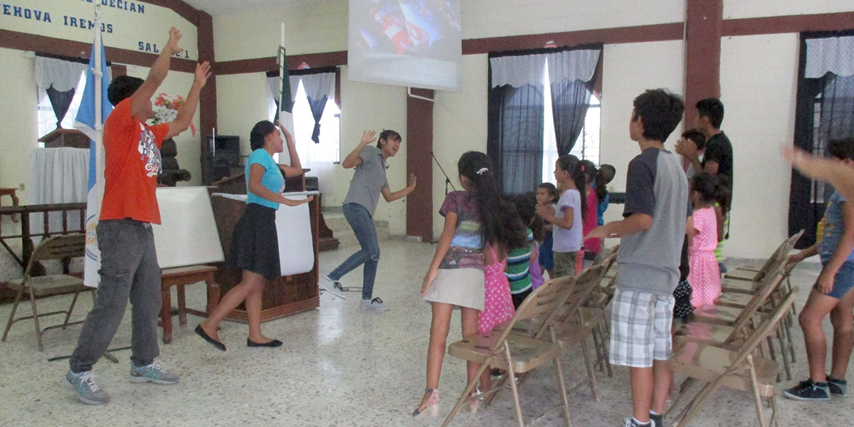 Kids at Vacation Bible School in Reynosa