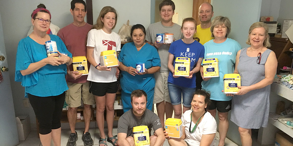A group brought a blessing of baby formula to the medical clinic in Reynosa