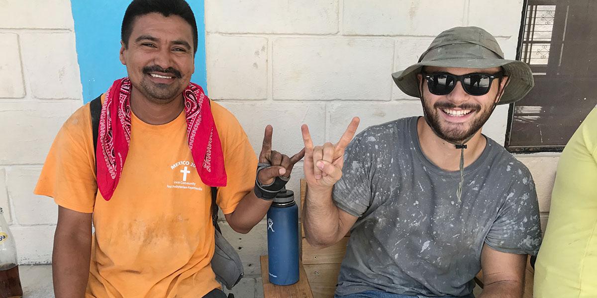 Friends taking a break from work in Reynosa