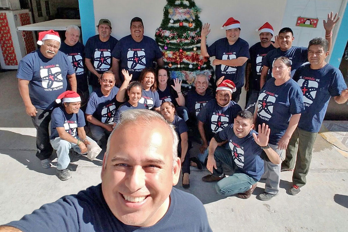 The staff in Reynosa wishing everyone a Merry Christmas