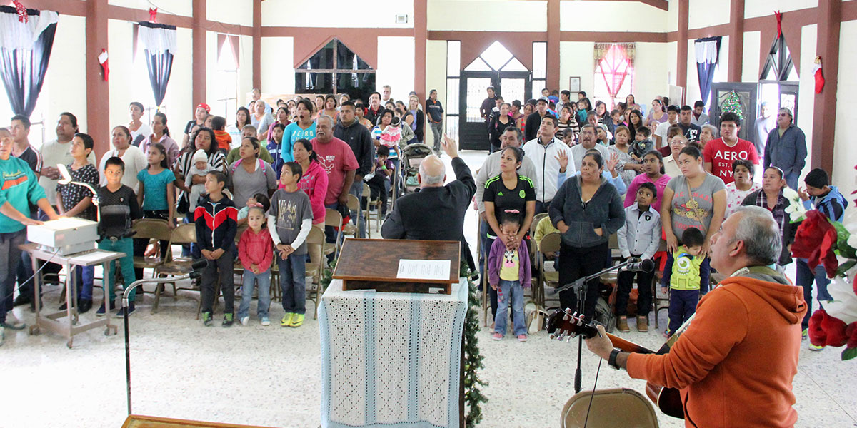 Worshipping together at a Christmas fiesta in Reynosa