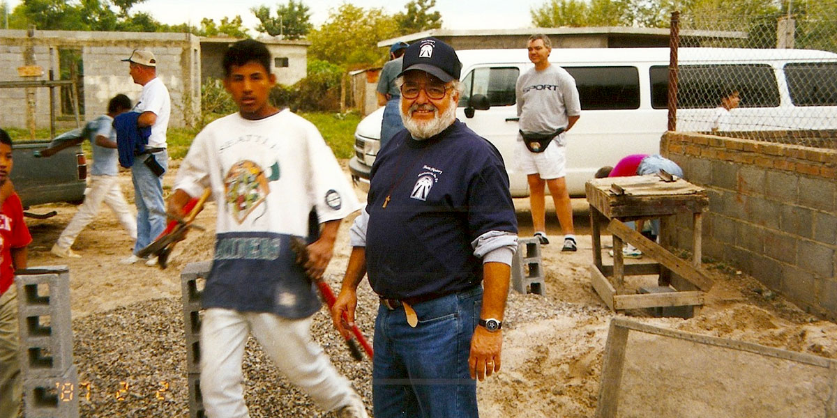 Deantin working in Mexico back when he started Faith Ministry