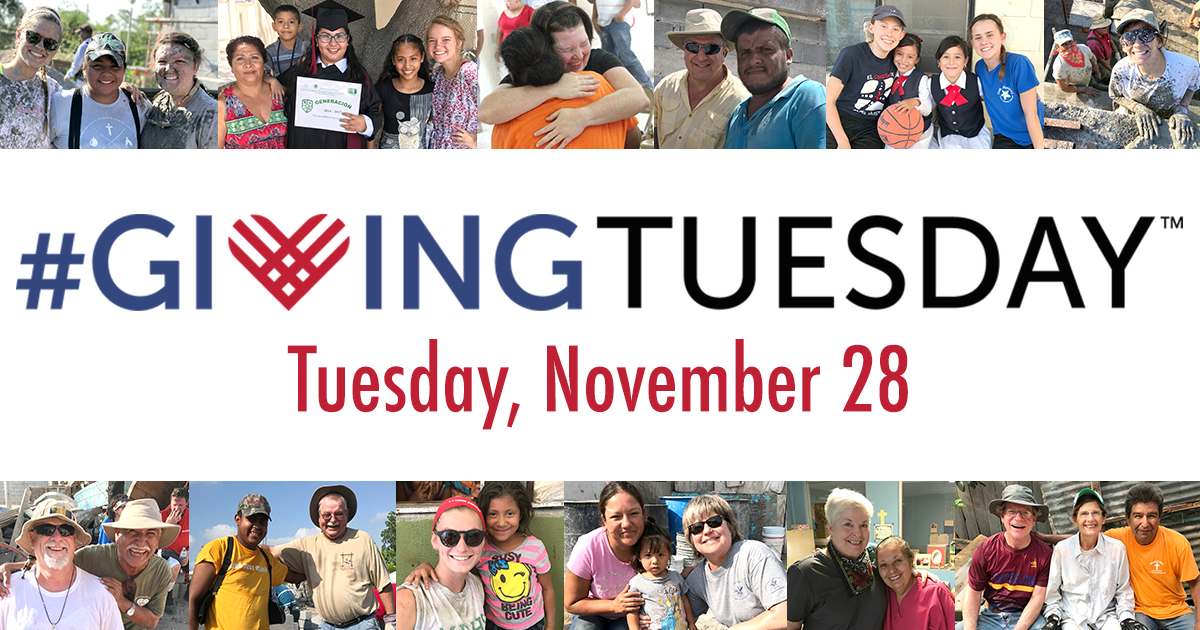Giving Tuesday is on Tuesday November 28