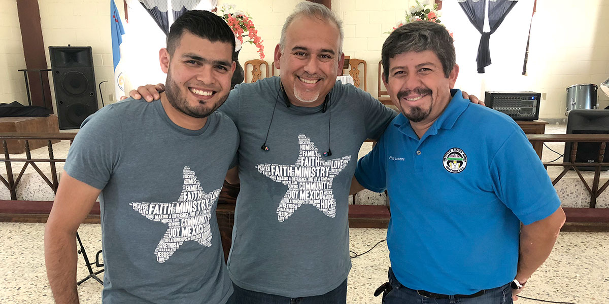 Carlos and David with Pablo the director of Berea in Monterrey