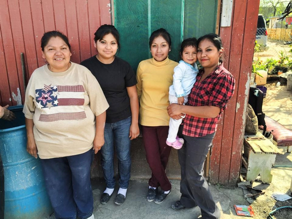 Gloria and her family in Reynosa