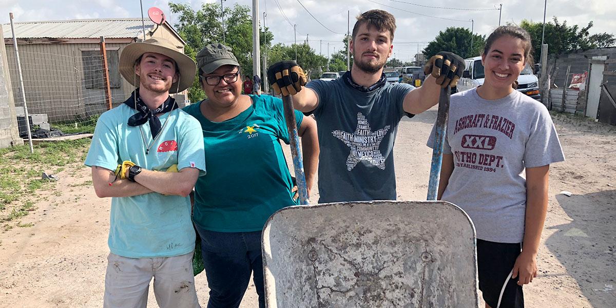 Summer interns at work in Reynosa