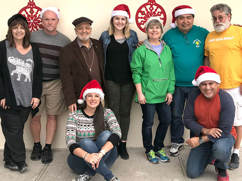 Friends in Reynosa for the Christmas fiesta