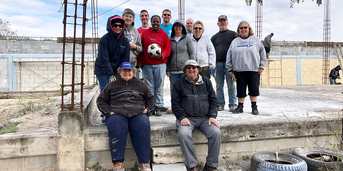 The team from Indiana in Naranjito at the site of the future community center