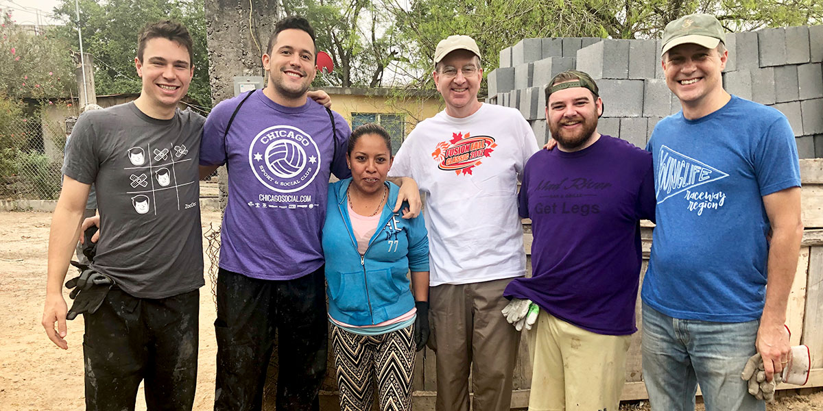 A team of family and friends from Indianapolis and Chicago building a house in Reynosa