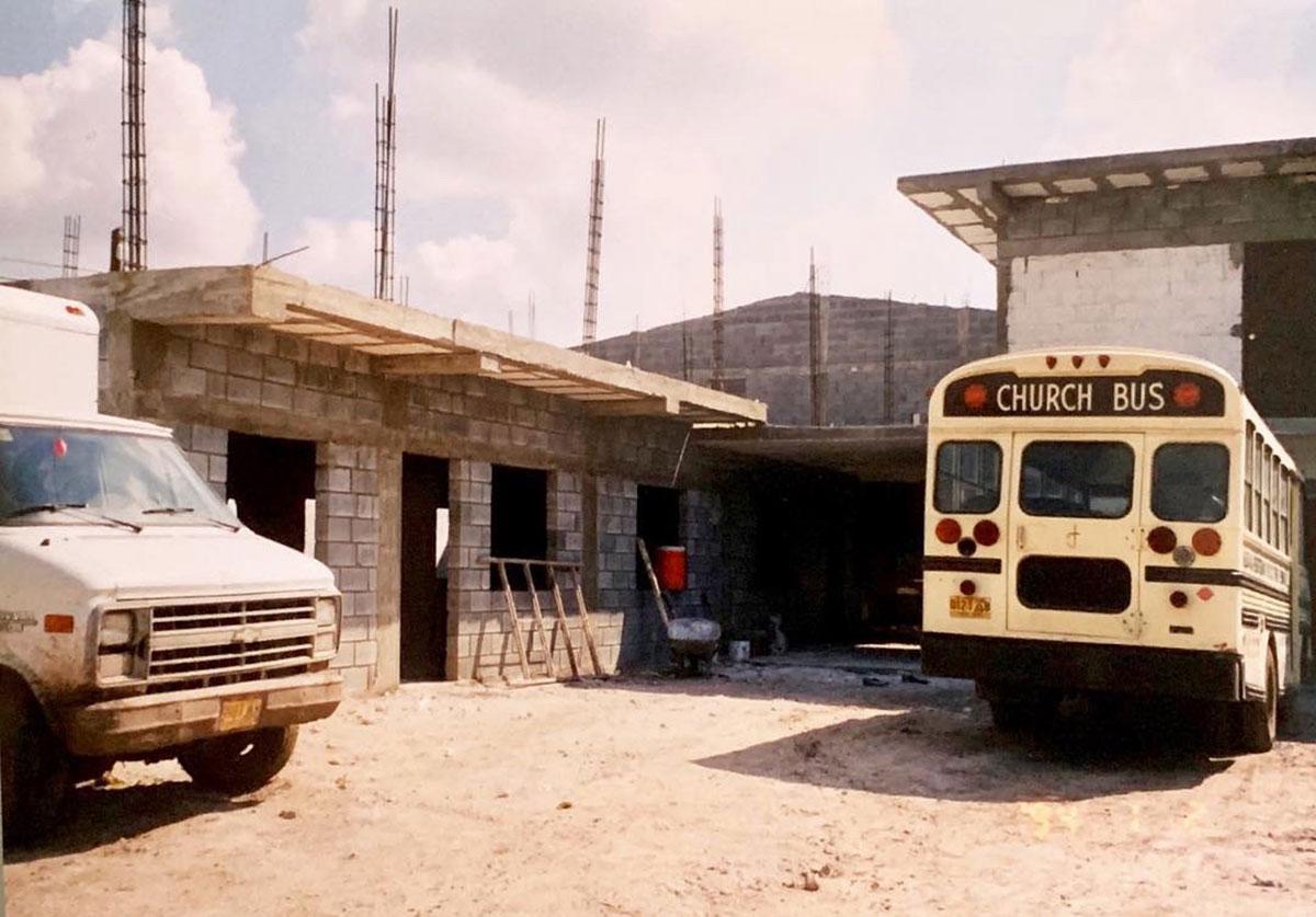 The church complex in 1999