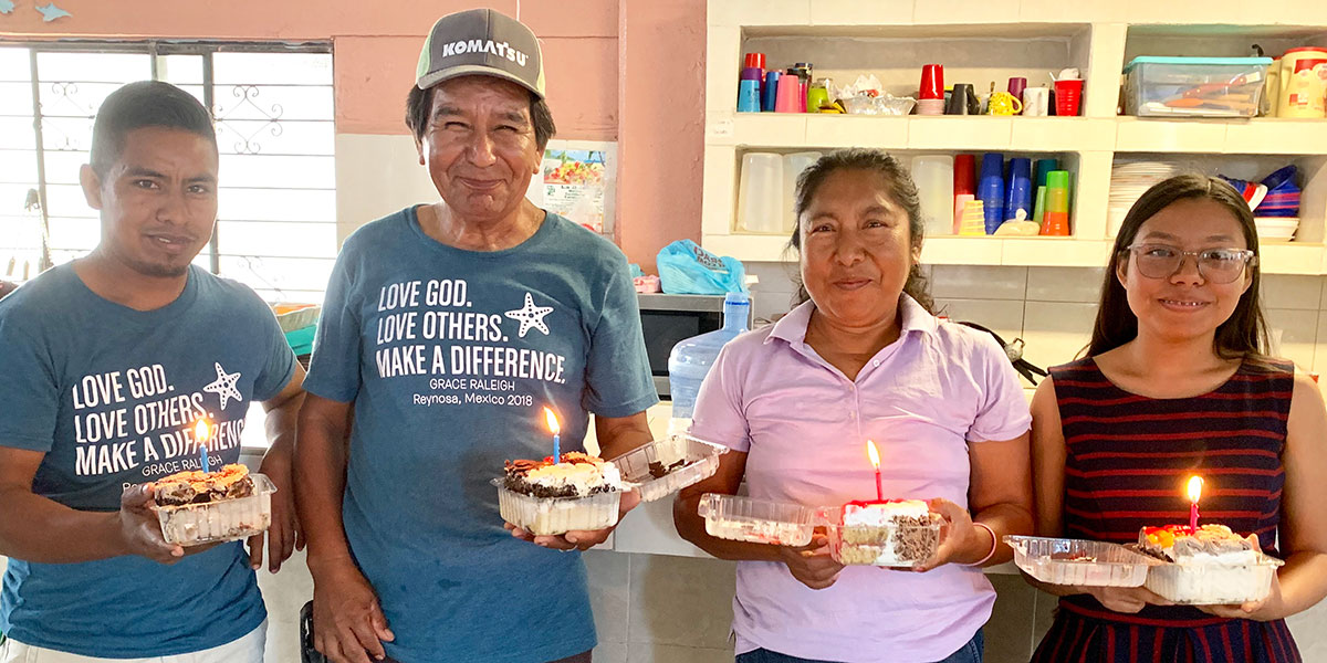 Celebrating the birthdays of Reynosa staff