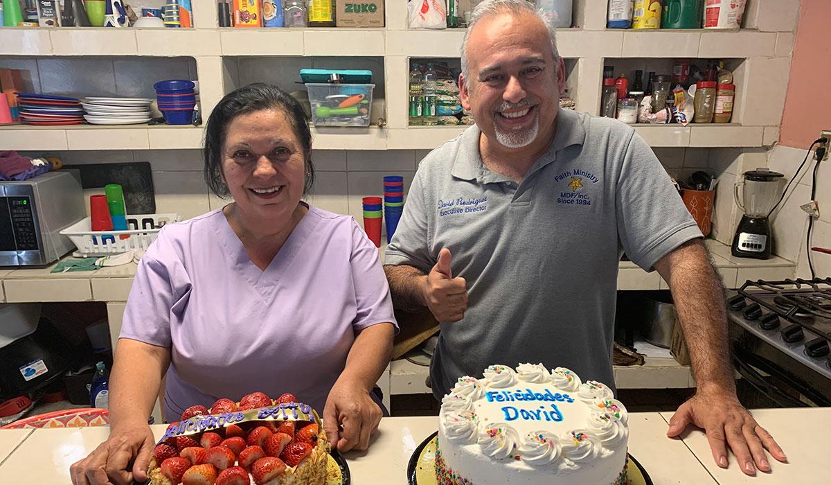 Celebrating the birthdays of Betty and David