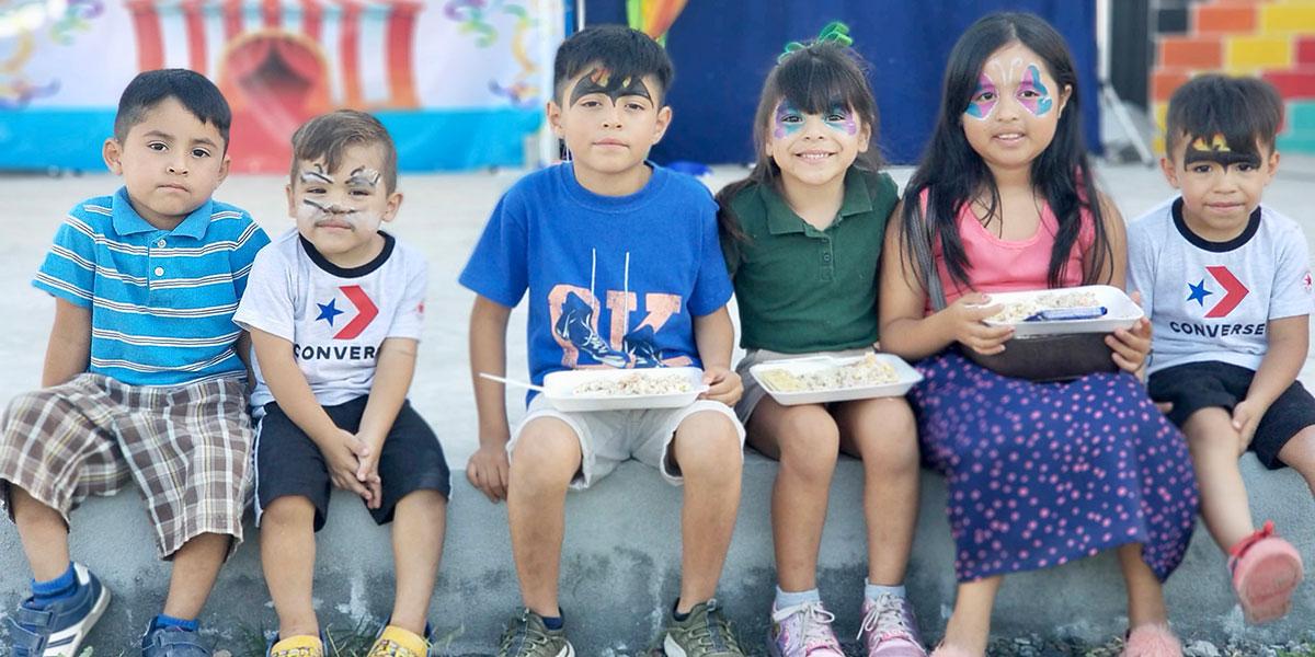 Kids from Reynosa and Naranjito celebrating Childrens Day