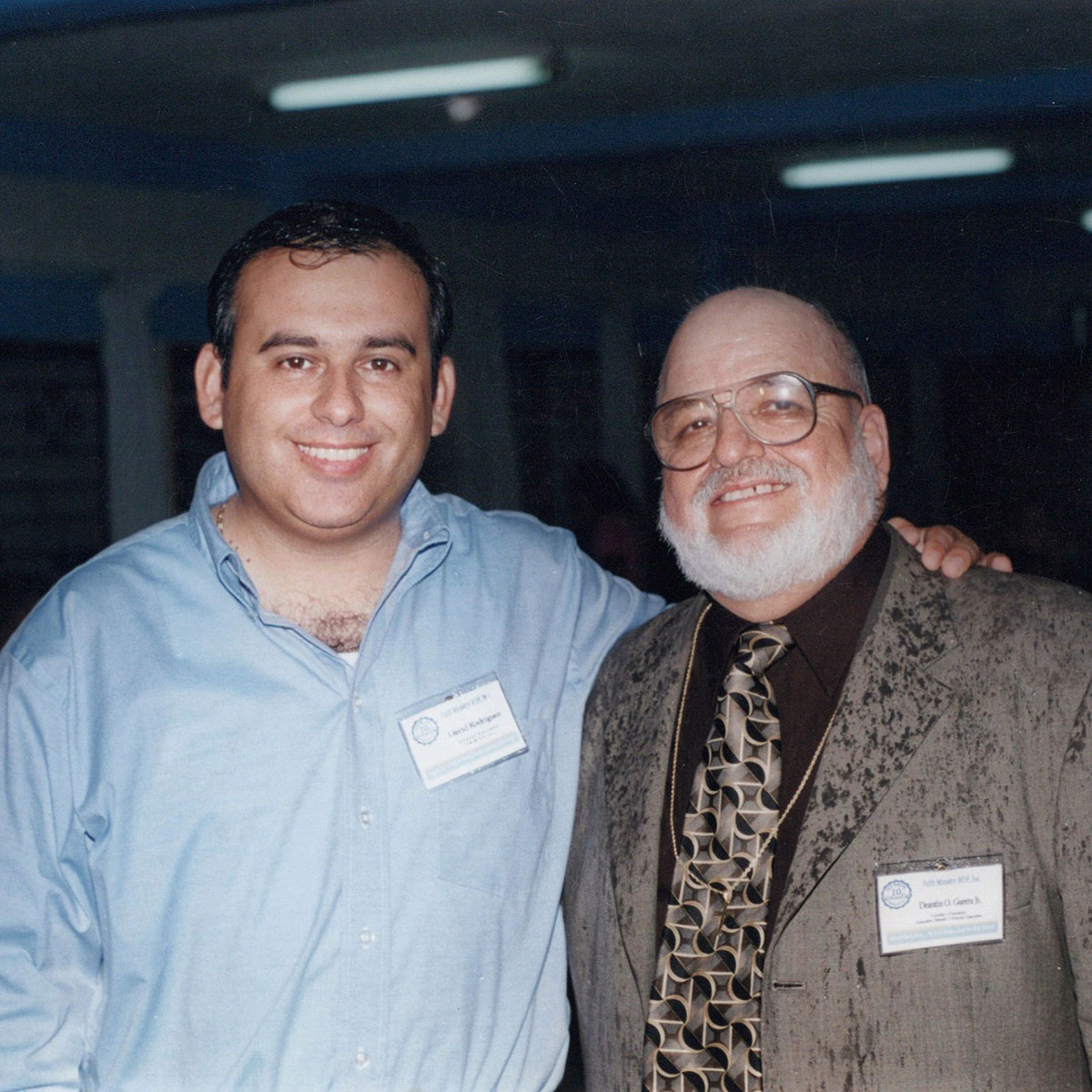 David and Deantin at the 10th anniversary of Faith Ministry in 2004