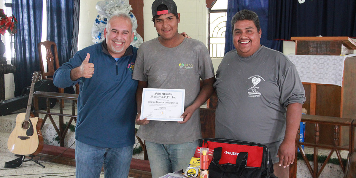 Our apprentice in Reynosa graduating from the foreman apprenticeship program
