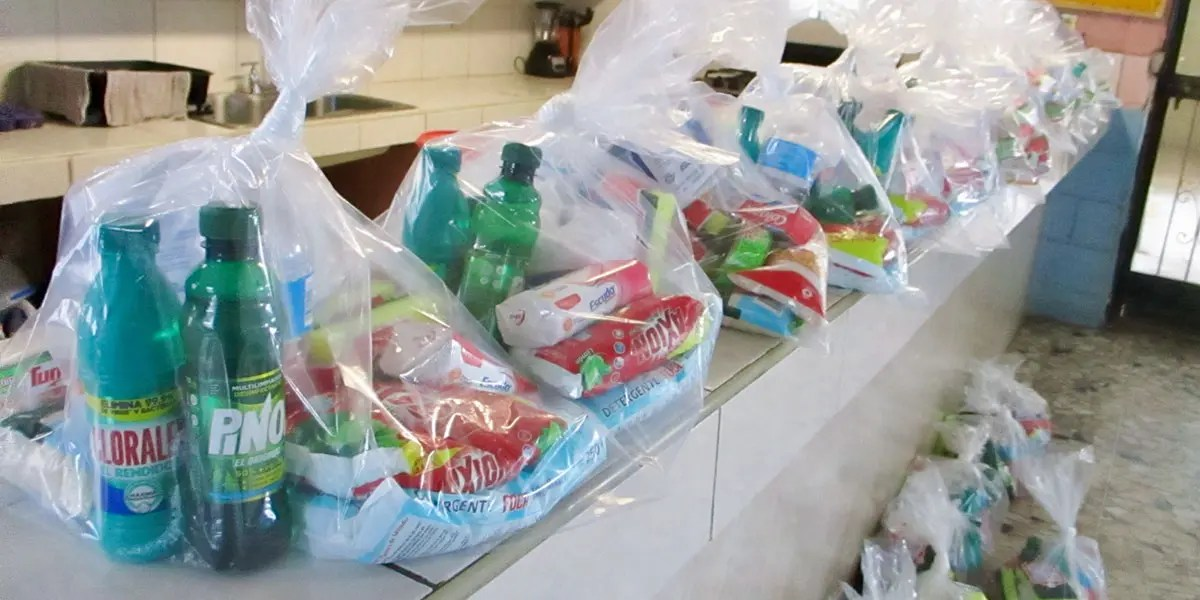 Hygiene kits for the community in Reynosa