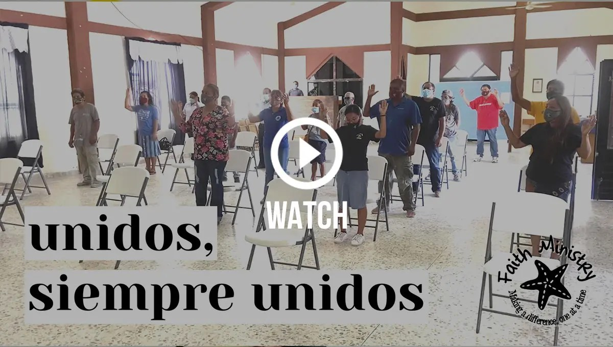 Click to watch our staff singing Unidos Unidos together