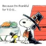 Because I'm Thankful for Y-O-U…
