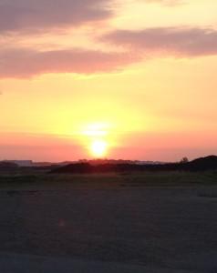 Sunrise outside our church