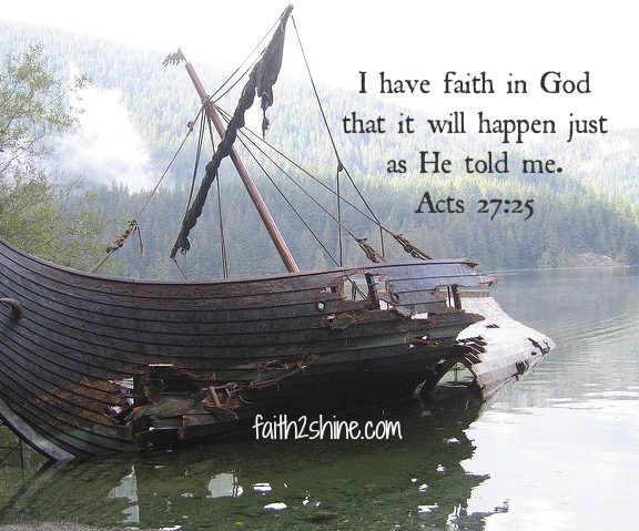 Shipwrecked faith