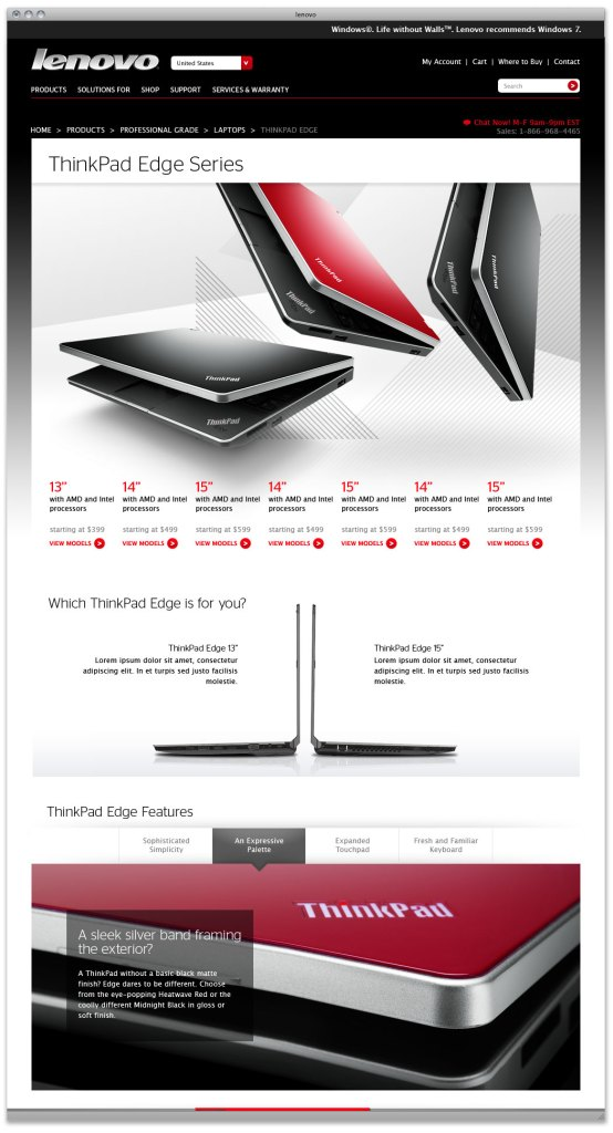 Lenovo Site Redesign