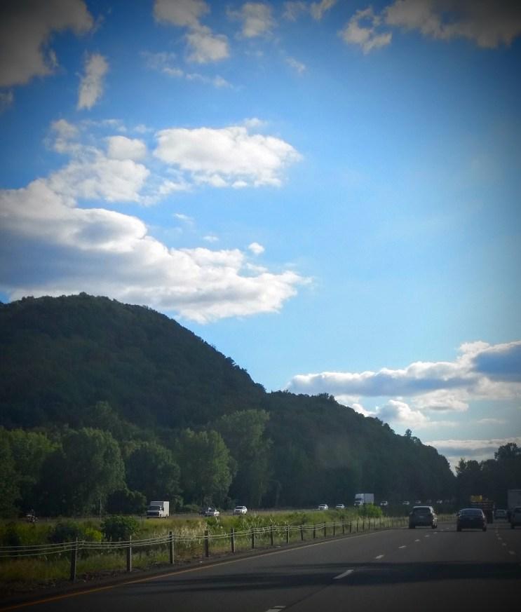 Road to school in Hamden, Connecticut.
