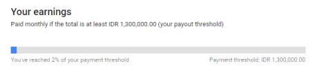 Batas Pembayaran Minimal Google Adsense