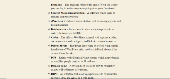 WordPress Terms