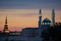 Kul Sharif Mosque in Kazan - Russia (sunset)