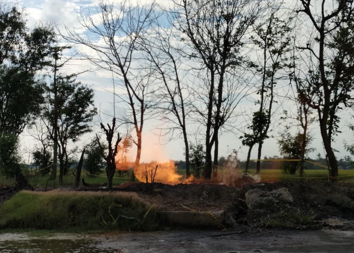 Semburan Gas Terus Membesar, Warga Desa Sukaperna Resah