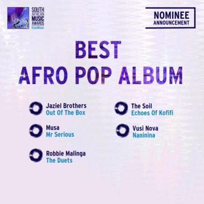 South African Music Awards 2016 - Full Nominee List #SAMA23 12